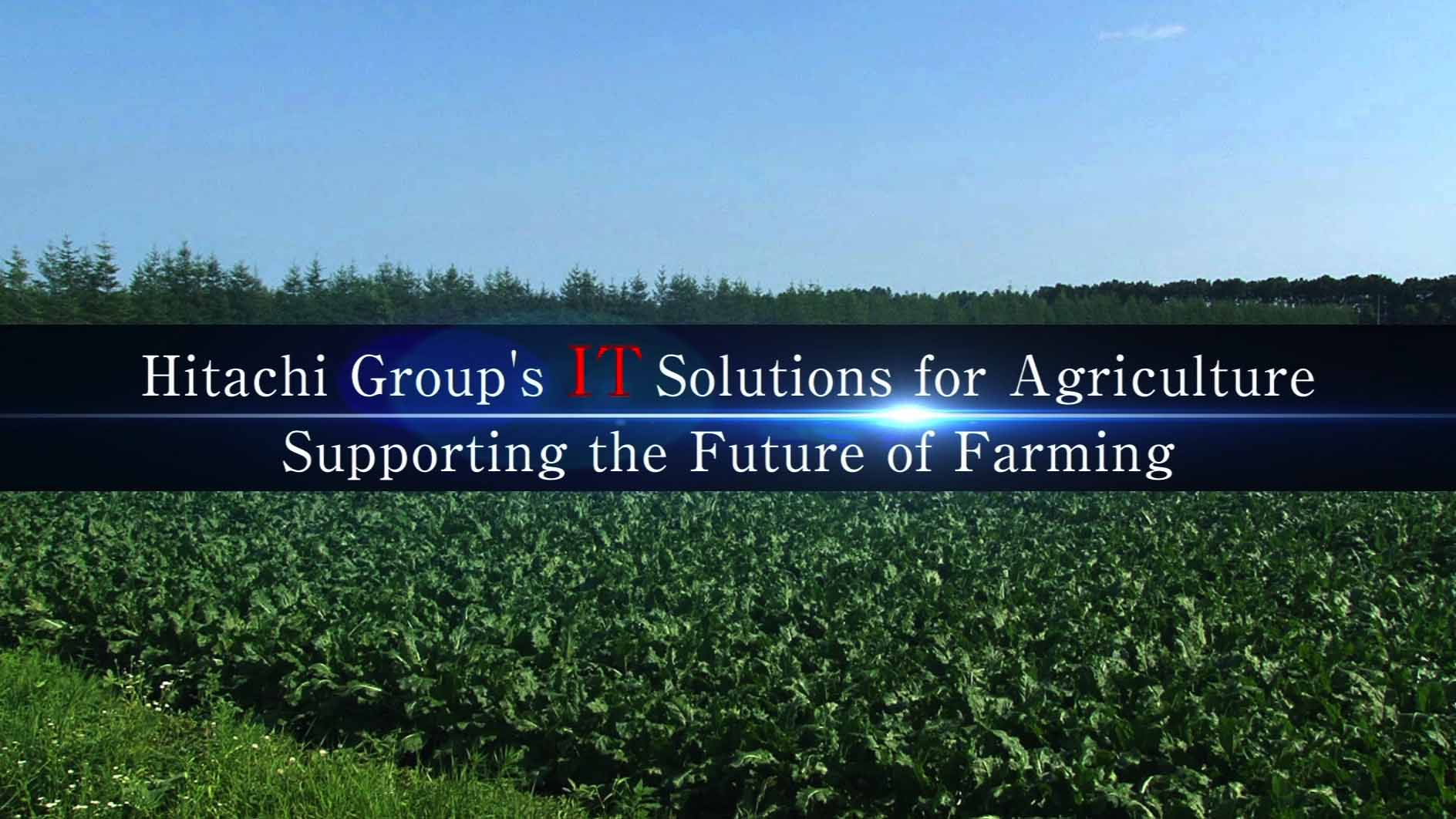 Hitachi Group's IT Solutions for AgricultureSupporting the Future of Farming