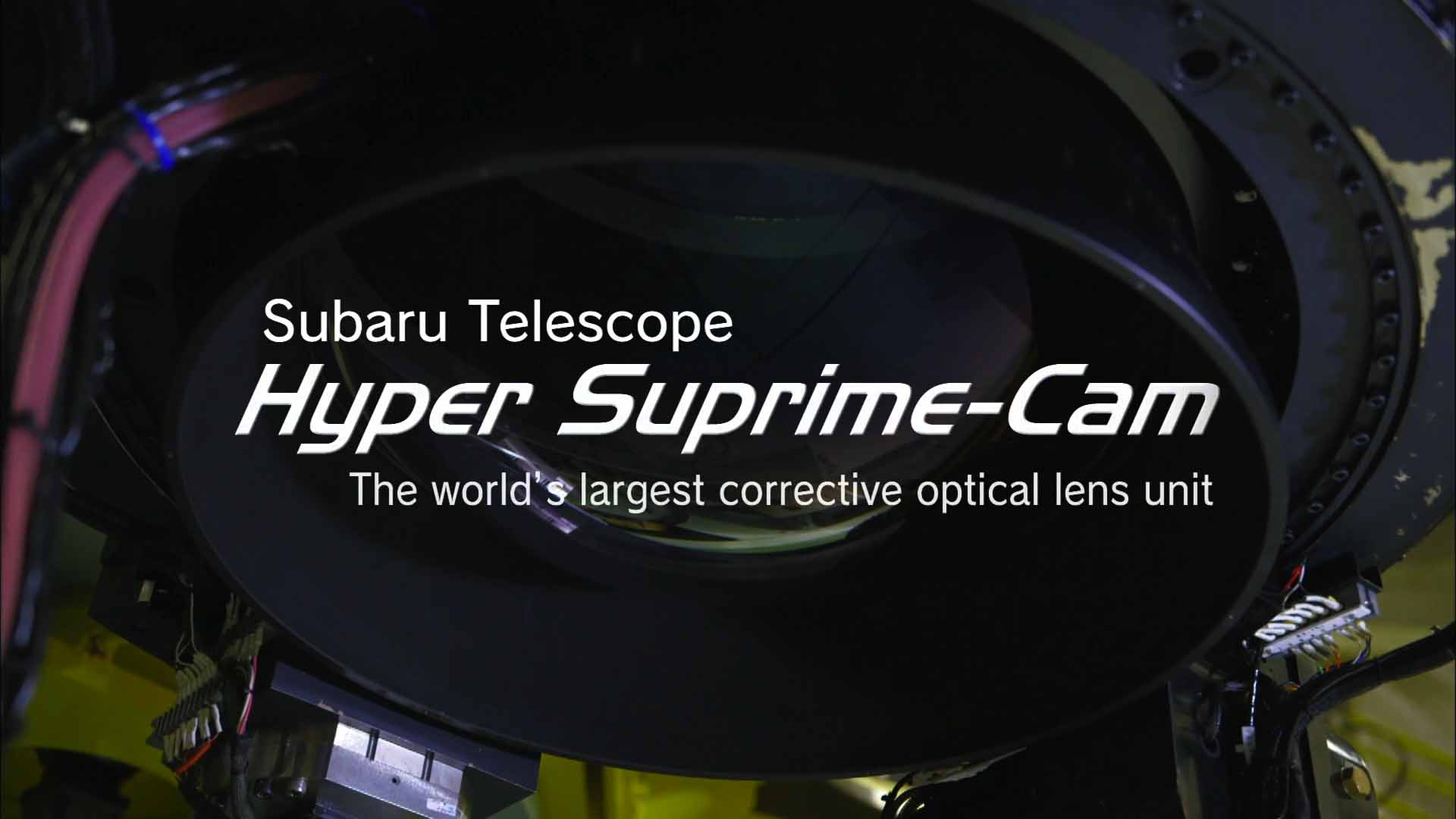 The Subaru Telescope and Hyper Suprime-Cam / English