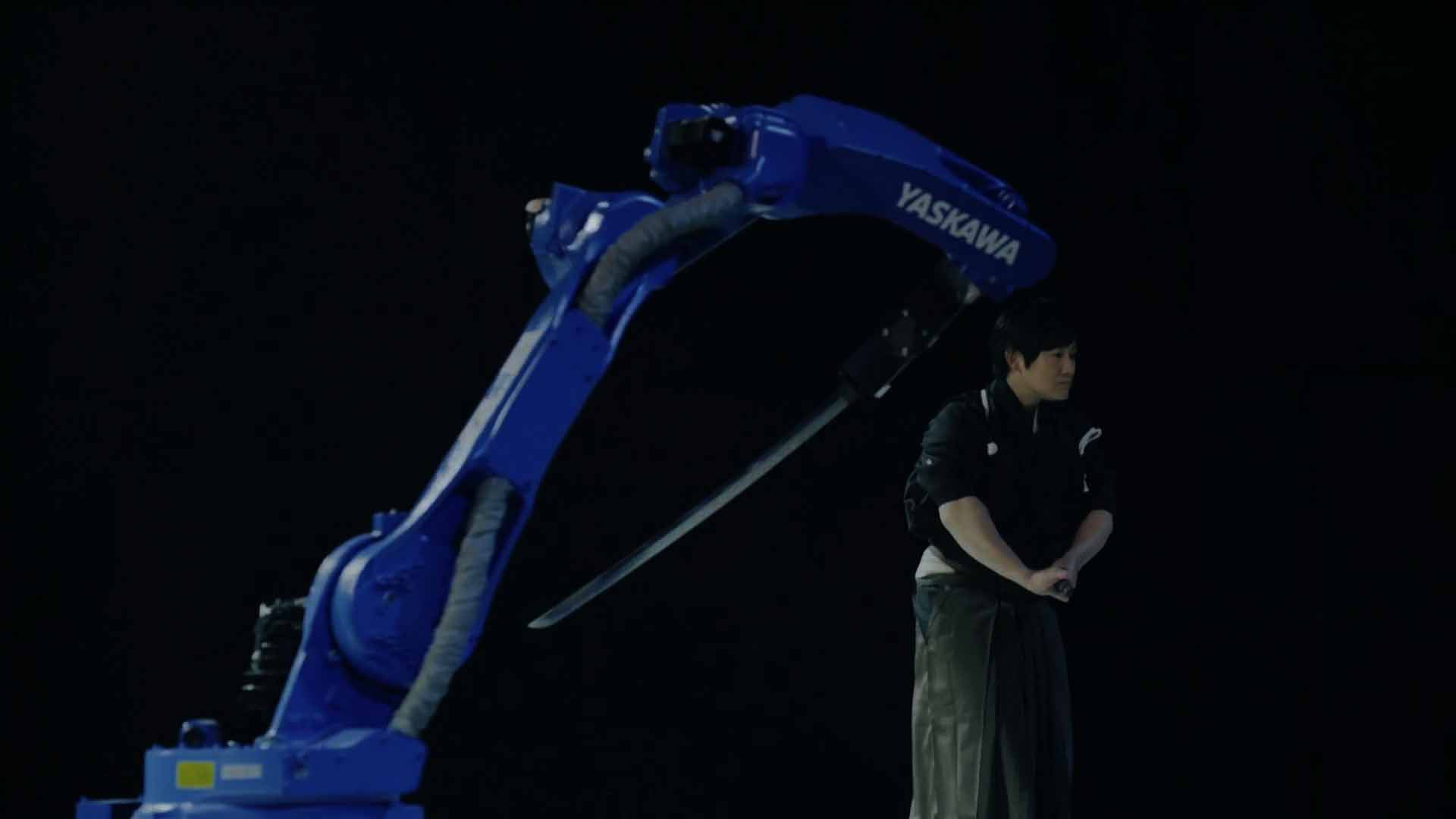 YASKAWA BUSHIDO PROJECT / industrial robot vs sword master